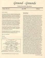 GROUND - GROUNDS FAMILY ASSOCIATION NEWSLETTER JULY 1990