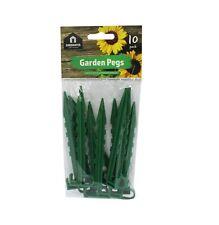 Pegs Plastic Garden 10x Green Large Multi Purpose Use Weed Guard Fleece Nettings