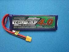 TURNIGY NANO-TECH 4000mAh 2S 7.4V 25C 50C LIPO BATTERY XT60 CAR TRUCK PLANE QUAD