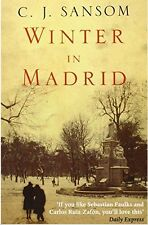 WINTER IN MADRID by C. J. Sansom, 1st True Ed, **SIGNED**, HC, DJ, c.2006 MINT