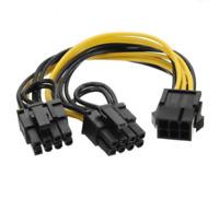 (5 Pack) PCI-E 6-pin to 2x 6+2-pin (6-pin/8-pin) Power Splitter PCIE PCI Express