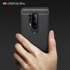 Shockproof Slim Luxury Carbon Fiber Soft Silicone Case Cover For OnePlus 8 Pro