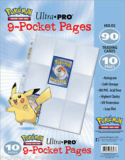 10x Pokemon Ultra Pro 9-Pocket Pages
