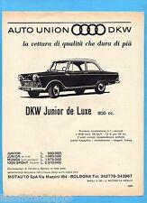 QUATTROR963-PUBBLICITA'/ADVERTISING-1963- DKW/AUTOUNION - DKW JUNIOR DE LUXE