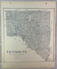 Antique General Land Office Map Val Verde County Texas Showing Plats +