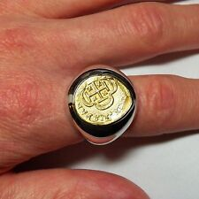 The King's Ring Men's New 22K Gold and Sterling Silver Coin Ring - Unique Item