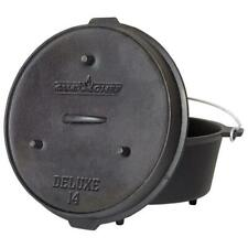 CAMP CHEF Preseasoned Dutch Oven Cast Iron 12 qt Pot Camping Outdoor Cooking Pan