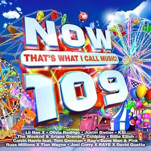 NOW THAT'S WHAT I CALL MUSIC 109 (Now 109) 2 CD (Released July 23rd 2021)