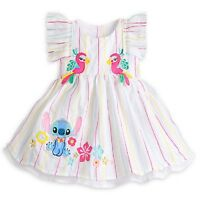 DISNEY STORE SUPER SWEET STITCH WOVEN DRESS FOR BABY GIRL MATCHING BLOOMERS NWT