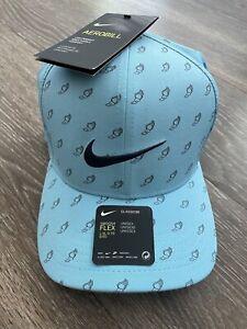 Nike Aerobill Classic 99 Dri Fit Winged Foot Blue Golf Cap Hat L/XL CK2758 $35