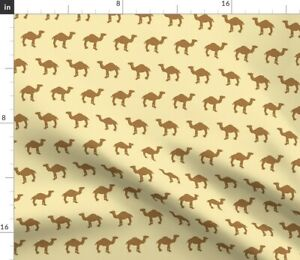 Gingerbread Camel Desert Animal Cookie Spoonflower Fabric by the Yard
