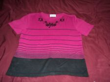 Pinkish purple short sleeve sweater ~  8 petite ~ 100% acrylic