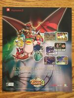 Monster Rancher 3 PS2 Playstation 2 2001 TECMO Vintage Poster Ad Print Art Rare