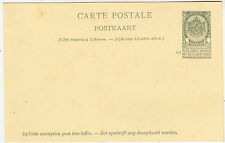 Carte Postale - 5c Green - Belgium / Belgique - vintage postcard - plain back
