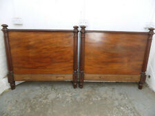More details for antique,victorian,1800's,4' w,solid,mahogany,wood,bed frame,round columns,bed
