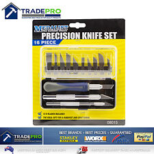 Precision Hobby Art Knife Set 16pc PRO Quality Medalist® Razor Tool & Case 08015