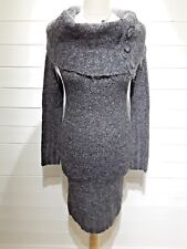 Atmosphere Jersey Dress ~ Size 12 ~ Grey ~ Long Sleeved - Casual, Everyday