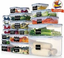 Shazo (Set of 20) Food Storage Containers with Lids - Plastic Food Containers...