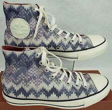 Womens CONVERSE Missoni 7 CT Hi Egret Metallic Multi Shoes $100 147337F Mens 5