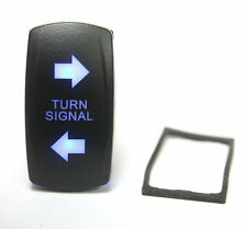 1pc - Turn Signal Lighted Switch Rocker SPDT, 20A 12VDC Illuminated Blue 4pin