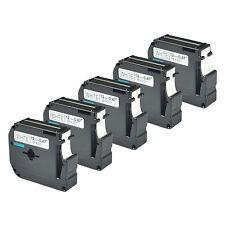 5 pack for Brother P-touch PT80 PT70 Black on White Label Tape M-K231 MK231