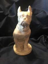 "Blanc De Chine Large French Bulldog Figurine Lomonosov Ussr 8 1/2"""