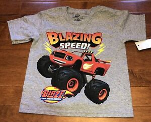 Blaze and the Monster Machines Toddler Boy Short Sleeve Shirt Top New 3T