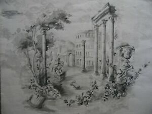 Capriccio of Rome, garlands of Roses. C19th W/colour Arthur Morris?