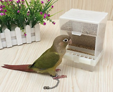 Old Tjikko Parrot Automatic Feeder,No-Mess Bird Feeder,Cage Accessories for Seed