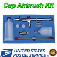 Dual Action Gravity Feed Airbrush Paint Spray Gun Set ( 0.2/0.3/ 0.5mm Nozzle )