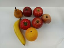 Faux fruit apples, pear, banana, orange and peach lot of 8