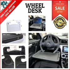 Laptop Steering Wheel Desk Vehicle Tablet Eating Mount Tray Stand Car Table