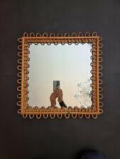 Specchio vintage bambù midollino Franco Albini anni 50
