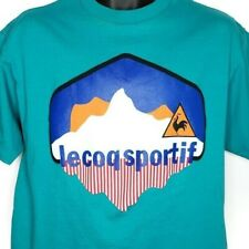 Le Coq Sportif T Shirt Vintage 80s 90s Single Stitch Made In USA Size Small