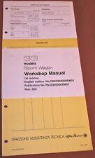 Alfa Romeo 33 Workshop Maintenance Manual, Nos