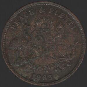 1863 New Zealand S.Beaven Invercargill Penny Token | Pennies2Pounds