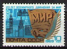 Russia 1969 Sc3609 Mi3636 0.3 MiEu 1v mnh 20th anniv.of the Peace Movement