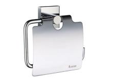 Smedbo House Toilettenapierhalter mit Deckel RK3414 chrom WC Rollenhalter Halter