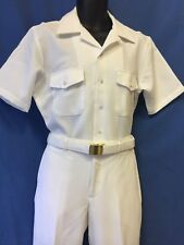 USN-NEW WHITE UNIFORM (CNT-100% POLYESTER) SHIRT SIZE XL,PANTS 37R ,38R OR 40R