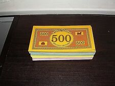 MONOPOLY DELUXE EDITION GAME PIECES MONEY 1995 PARKER BROTHERS