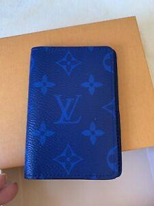 New Full Set LOUIS VUITTON Monogram Pocket Organizer in Cobalt M30301