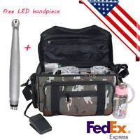 Outdoor Portable Dental Unit Air Compressor Suction system Bag LED Handpiece 4 H