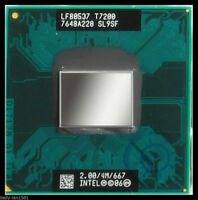 USA! Intel SL9SF Core 2 Duo Mobile T7200 2.00GHz/4MB/667MHz Socket M CPU Refurb