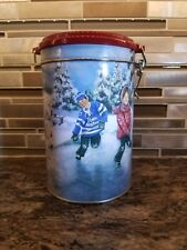 """Tim Hortons Collectible Coffee Canister """"Skating Pond"""" 2003"""