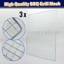 3PCS 56X41 BBQ Steel Grill Mesh Fish Meat Veg Barbecue Net Outdoor Camping