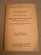 1922 Stephen Van Rensselaer Firearms & Edged Weapons Illustrated Auction Catalog