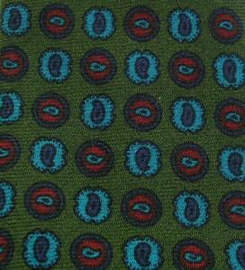 USED TIE CRAVATTA MADE IN ITALY WOOL 100%