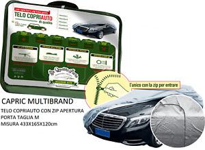 Telo Copriauto Felpato in Peva e Cotone con Zip Apertura Porta per Fiat Sedici
