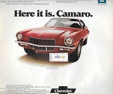 CHEVROLET 71 CAMARO WE'VE LEARNED A LOT FROM CORVETTE HERE IT IS CAMARO AD