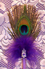 Pretty*Bride&Groom* Peacock Feather Marriage License Pen *See All Colors*
